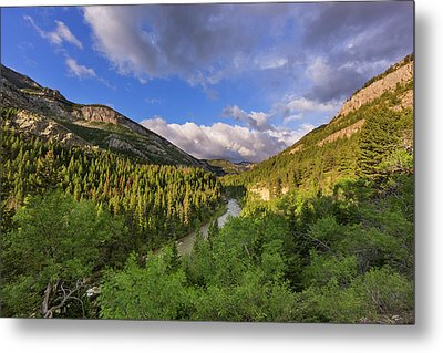 The Dearborn River In The Lewis Metal Print by Chuck Haney