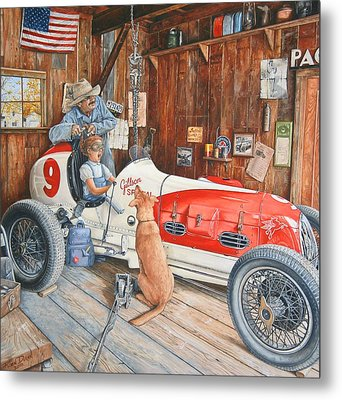 The Driving Lesson Metal Print by Ruben Duran