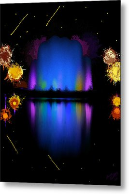 The Electric Fountain Metal Print by Bruce Nutting