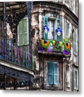 The French Quarter During Mardi Gras Metal Print