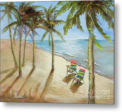 Metal Print featuring the painting The Get-away by Vic  Mastis