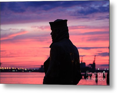 The Lone Sailor Metal Print