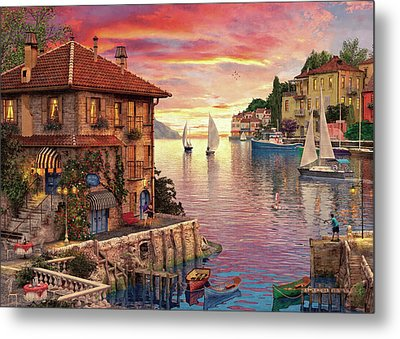 The Mediterranean Harbour Metal Print by Dominic Davison