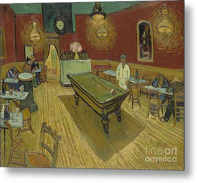 The Night Cafe Metal Print by Vincent Van Gogh
