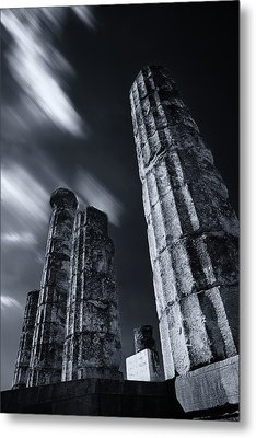 Metal Print featuring the photograph The Pillars Of Apollo's Temple by Micah Goff