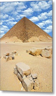 The Red Pyramid (senefru Or Snefru Metal Print by Nico Tondini