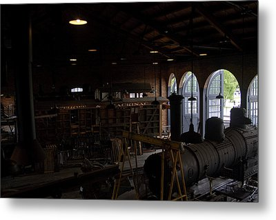 The Roundhouse Workshop Metal Print by Gary Marx