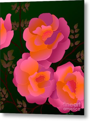 Metal Print featuring the digital art The Scent Of Roses by Latha Gokuldas Panicker