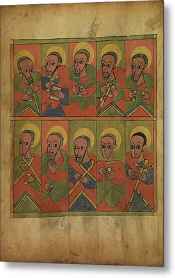 The Seventy-two Disciples Unknown Ethiopia Metal Print by Litz Collection