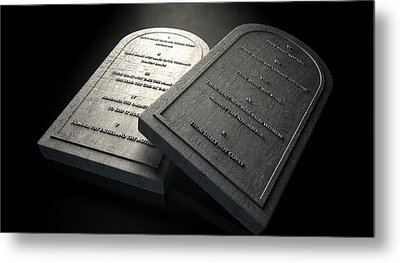 The Ten Commandments Metal Print by Allan Swart