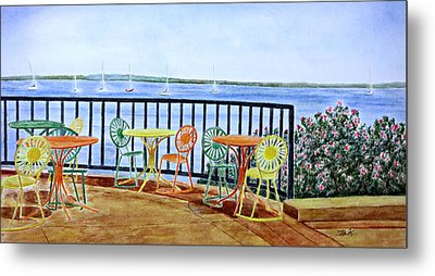 The Terrace View Metal Print by Thomas Kuchenbecker