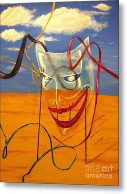 The Transparent Mask Metal Print by Safa Al-Rubaye