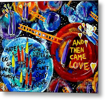 Metal Print featuring the painting Then Came Love by Jackie Carpenter
