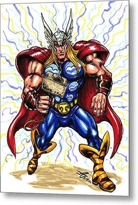 Thor  Metal Print by John Ashton Golden