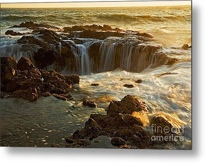 Thor's Well Metal Print by Nick  Boren