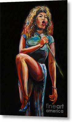 Tina Turner Metal Print by Nancy Bradley