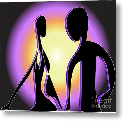 Metal Print featuring the digital art Together Forever by Iris Gelbart