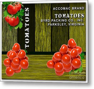 Tomato Farm Metal Print
