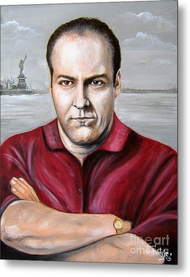 Metal Print featuring the painting Tony Soprano by Patrice Torrillo