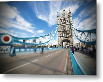 Metal Print featuring the photograph Tower Bridge In London by Chevy Fleet