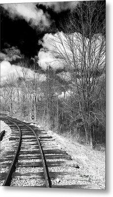Tracks Metal Print by John Rizzuto