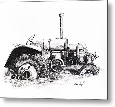 Tractor Metal Print by Aaron Spong