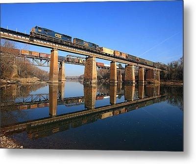 2 Trains 2 Trestles Cayce South Carolina Metal Print