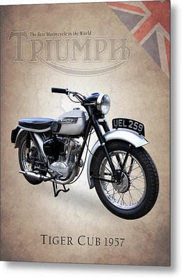 Triumph Tiger Cub Metal Print