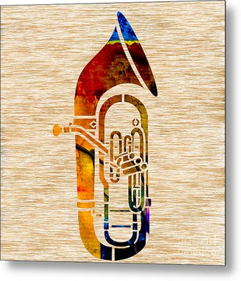 Tuba Metal Print by Marvin Blaine