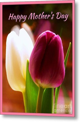 2 Tulips For Mother's Day Metal Print