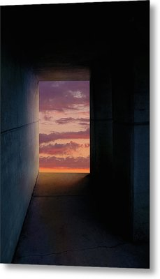 Tunnel With Light Metal Print by Melinda Fawver