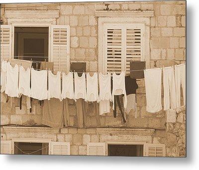 Tuscan Laundry Metal Print