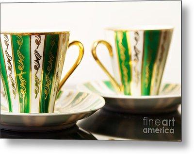 Two Coffee Cups Metal Print by Aleksey Tugolukov