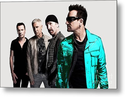 U2 Metal Print by Marvin Blaine