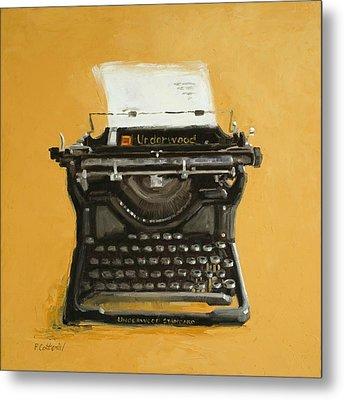 Underwood Typewriter Metal Print by Patricia Cotterill