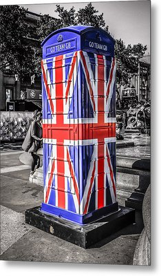 Union Jack Phone Metal Print