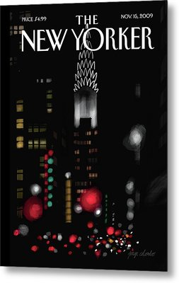 New Yorker November 16th, 2009 Metal Print by Jorge Colombo-Gomes