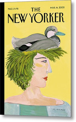 New Yorker March 14th, 2005 Metal Print by Maira Kalman