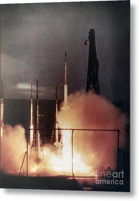 Us Navy Rockets 1958 Metal Print by Granger