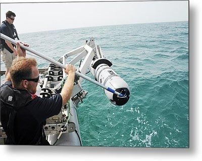 Us Navy Underwater Mine Clearance Drone Metal Print