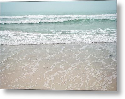 Usa, Florida, Sarasota, Crescent Beach Metal Print