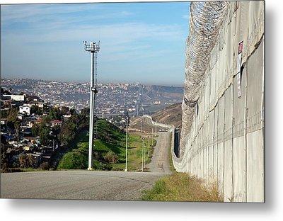 Usa-mexico Border Surveillance Metal Print by Jim West