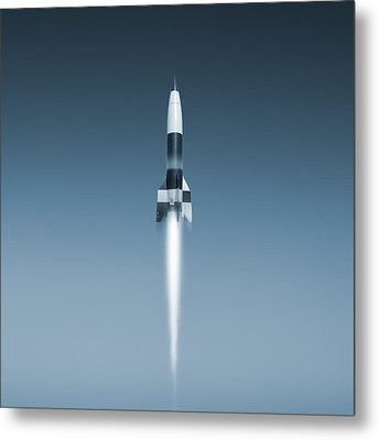 V-2 Rocket Launch, Artwork Metal Print by Science Photo Library
