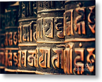 V2 Textures Buddha Is In The Details Metal Print by Neville Bulsara
