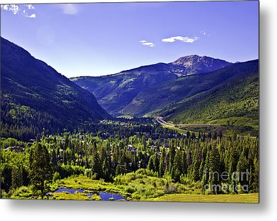 Vail Valley View Metal Print