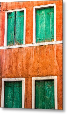 Venetian Houses Metal Print