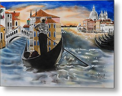 Venice Passing By Metal Print