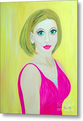 Metal Print featuring the painting Victoria. Inspirations Collection. by Oksana Semenchenko