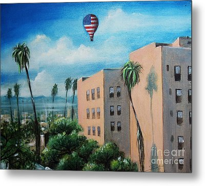Metal Print featuring the painting View From Olympic Boulevard by S G