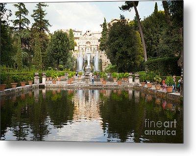 Villa D'este Gardens Metal Print by Peter Noyce